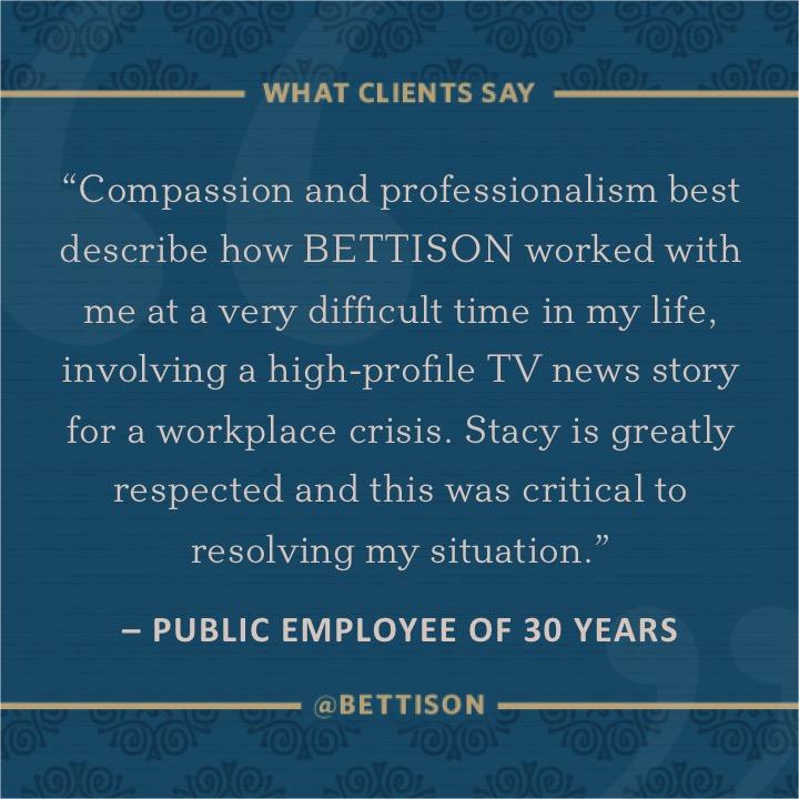 Bettison Client Provides Testimonial for Crisis Communications